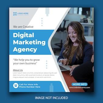 Agencja marketingu cyfrowego i korporacyjny instagram i szablon postu w mediach społecznościowych