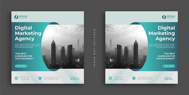 Agencja marketingu cyfrowego i nowoczesny kreatywny projekt szablonu banera internetowego