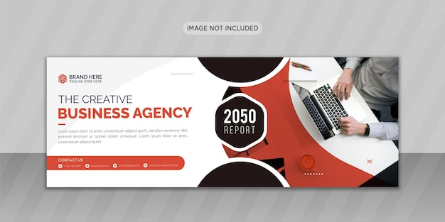 Agencja marketingu cyfrowego projekt zdjęcia w tle na facebooku lub projekt banera internetowego