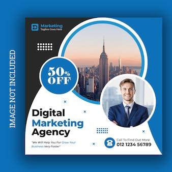 Agencja marketingu cyfrowego szablon mediów społecznościowych na instagramie