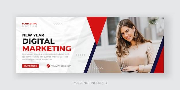 Agencja marketingu cyfrowego szablon projektu banera w mediach społecznościowych