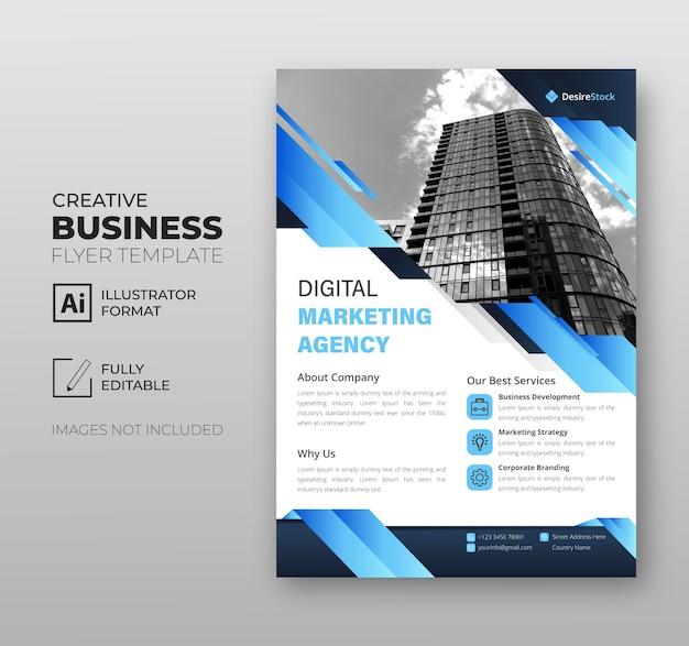 Agencja marketingu cyfrowego ulotka szablon biznesowa nowoczesne