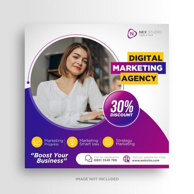 Agencja marketingu cyfrowego umieszcza reklamy w mediach społecznościowych