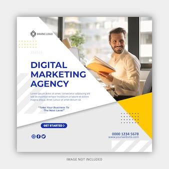 Agencja marketingu cyfrowego w mediach społecznościowych i post na instagramie