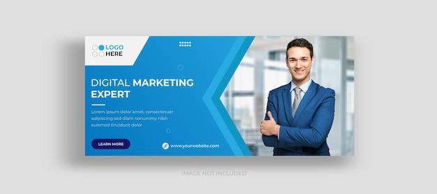 Agencja marketingu cyfrowego w mediach społecznościowych projekt okładki na facebooka i post na instagram szablon projektu