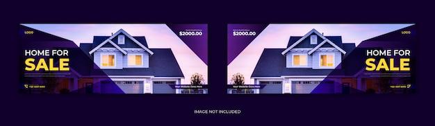 Agent nieruchomości wynajem domu sprzedaż w mediach społecznościowych post na facebooku strona tytułowa oś czasu online