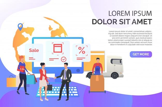 Agent sprzedaży współpracujący z klientami