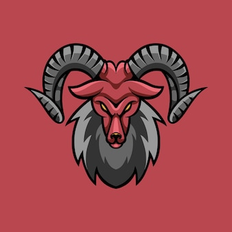 Agresywne logo gier e-sportowych kozy
