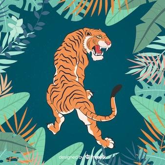Agresywny tygrys