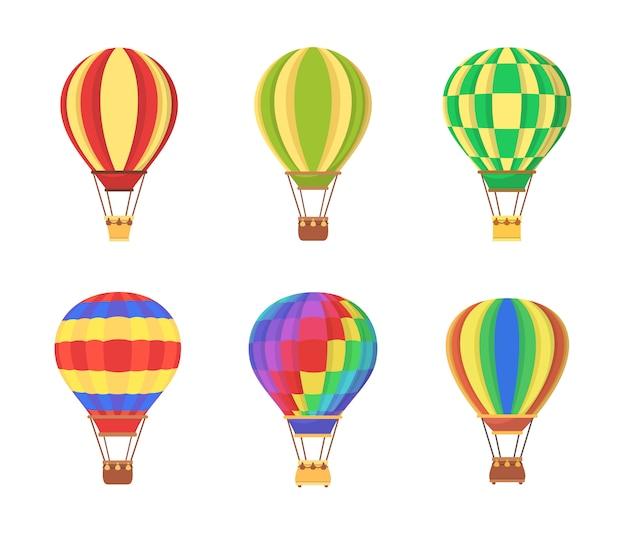 Air balloon set clip art ilustracji