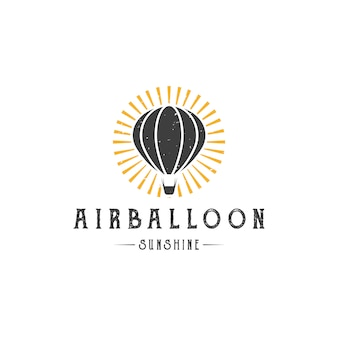 Air balloon sun logo szablon