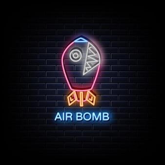 Air bomb logo neonowe znaki