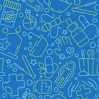 Ajurweda medycyna wzór. indyjski tradycyjny student medycyny ziołowe praktyki aromat przyprawy witaminy homeopatia wektor bezszwowe tło