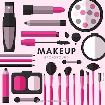 Akcesoria do makijażu tło