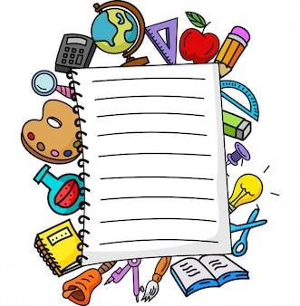 Akcesoria szkolne i sprawdzony notes