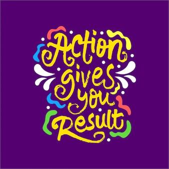 Akcja daje ci motywacyjny cytat