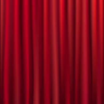 Aksamitna kurtyna teatralna ze światłami i cieniami