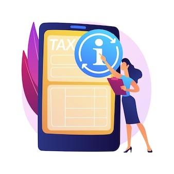 Aktualizacja informacji finansowych. zwrot podatku. załaduj ponownie witrynę, nowe dane, zresetuj stronę internetową. ponów złą opcję. sporządzono poprawnie. przejść dalej. ilustracja koncepcja na białym tle.