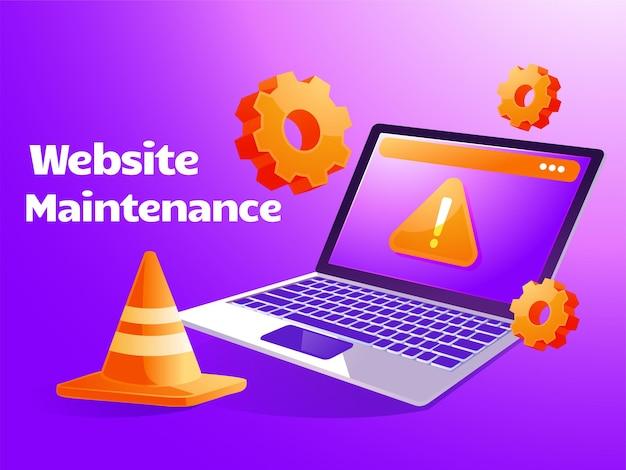 Aktualizacja konserwacji systemu strony internetowe do tworzenia oprogramowania z laptopem