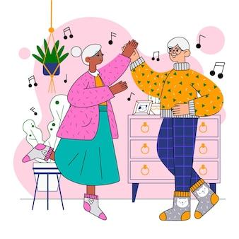 Aktywni ludzie starsi