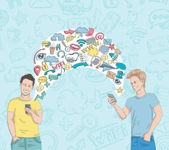 Aktywność w sieci społecznościowej