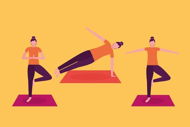 Aktywność jogi ludzi