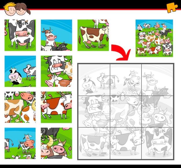 Aktywność kreskówka puzzle