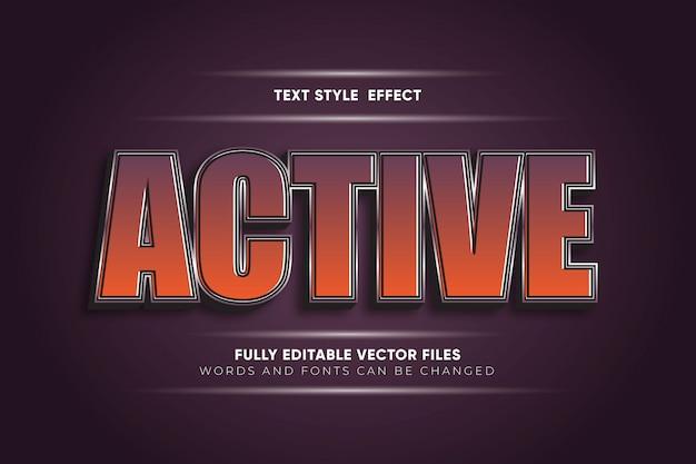 Aktywny edytowalny efekt tekstu wektorowego