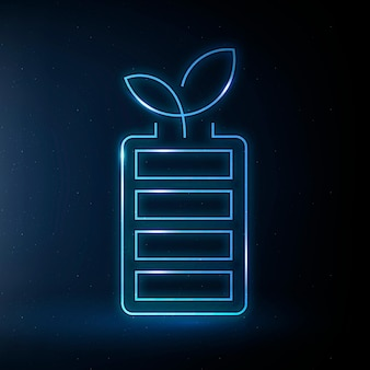 Akumulator ikona wektor przyjazny dla środowiska symbol