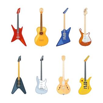 Akustyczna i rockowa gitara