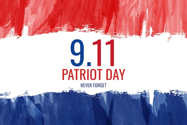 Akwarela 9.11 dzień patrioty tło