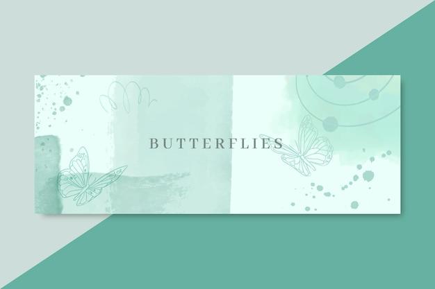 Akwarela abstrakcyjne kształty facebook cover