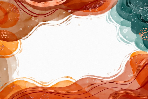 Akwarela abstrakcyjne kształty tła