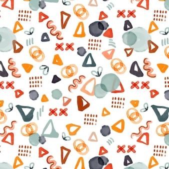 Akwarela abstrakcyjne kształty wzór wzoru