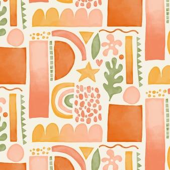 Akwarela abstrakcyjne kształty wzór