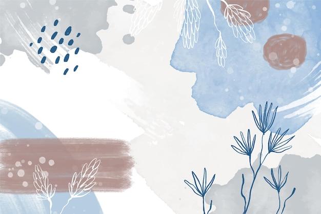Akwarela abstrakcyjne tło z roślinami