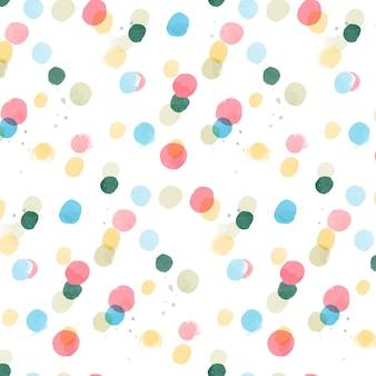 Akwarela abstrakcyjny wzór bez szwu z kropkami na fakturze