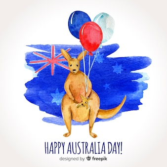 Akwarela australii dzień tło