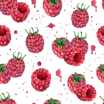 Akwarela bezszwowe wzór z jagodami