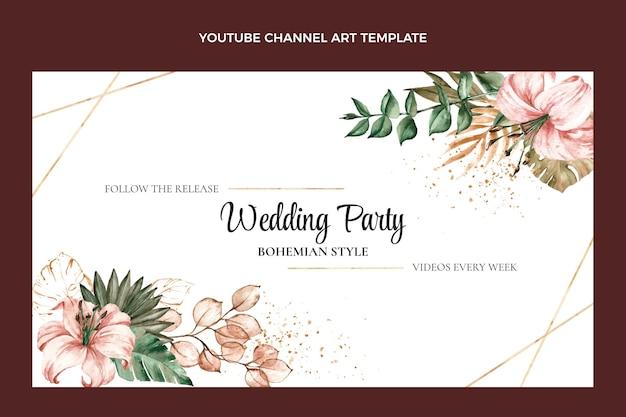 Akwarela boho ślubna sztuka kanału youtube