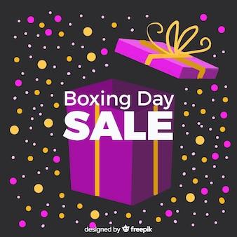 Akwarela boks dzień sprzedaży tło
