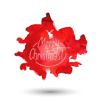 Akwarela Boże Narodzenie Splatter Heads Darmowych Wektorów