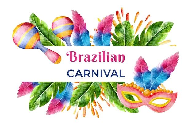 Akwarela brazylijski karnawał
