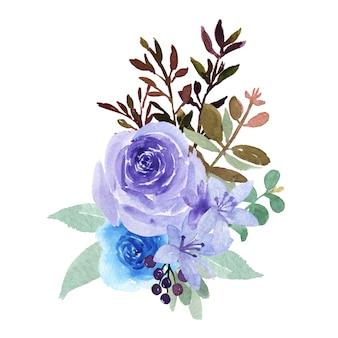 Akwarela bukiety kwiatów