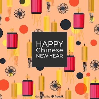 Akwarela chiński nowy rok 2019 tło