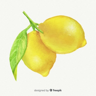 Akwarela cytryny tło