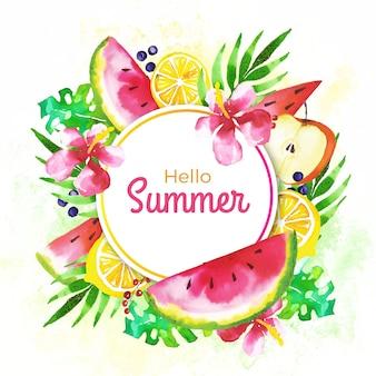 Akwarela cześć lato