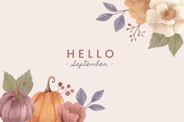Akwarela cześć września tło