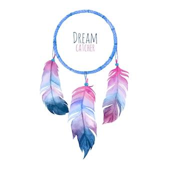 Akwarela dream catcher