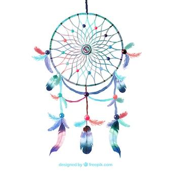 Akwarela dreamcatcher